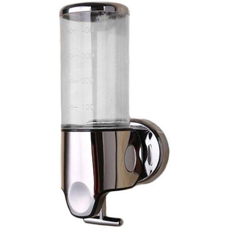 Distributeur de savon et shampoing 500 ml transparent ergonomique