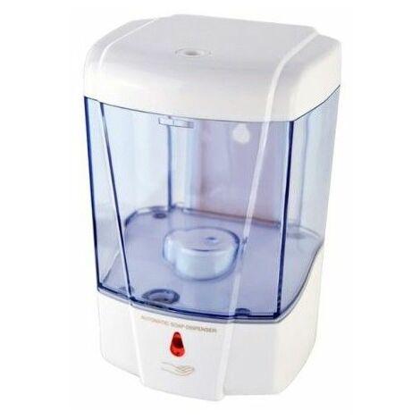 Distributeur de savon et shampoing automatique mural 600 ml transparent ergonomique