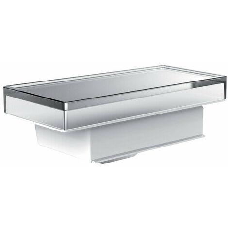 Distributeur de savon liquide de liaison Emco pour rampe, gobelet en verre cristal, intérieur dépoli, env. 250 ml, chromé - 182100004