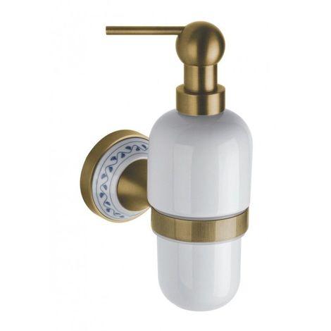 Distributeur de savon liquide KERA en laiton et céramique / 230ml
