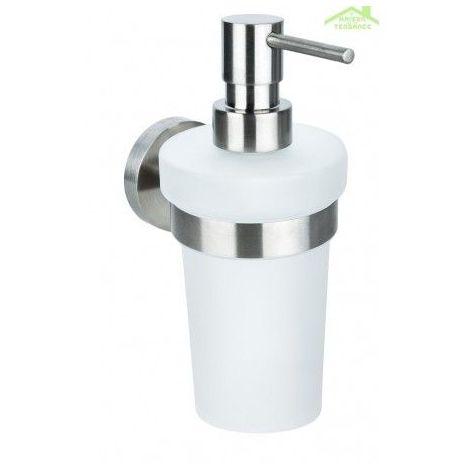 Distributeur de savon liquide NEO en acier inoxydable, en verre 250ml / 19x10x7,5cm