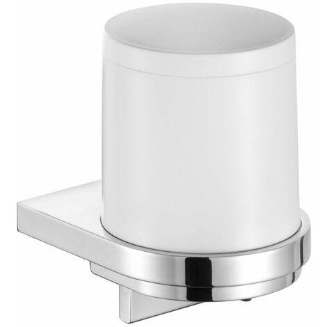 Distributeur de savon liquide série MOLL - Finition : Chromé/Blanc