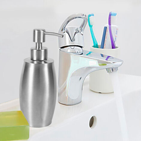 Distributeur de savon – Système anti-rouille et anti-fuite en acier inoxydable pour évier de cuisine et salle de bain
