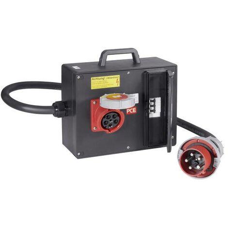 Distributeur d'énergie CEE PCE 9226961 Répartiteur en caoutchouc CEE 125A / 63 A avec poignée H07RN-F 5G 16 mm² IP44 S31572