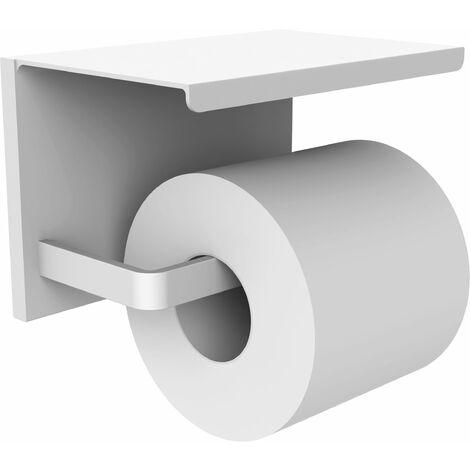 Distributeur papier WC avec étagère LOFT-GAME blanc mat