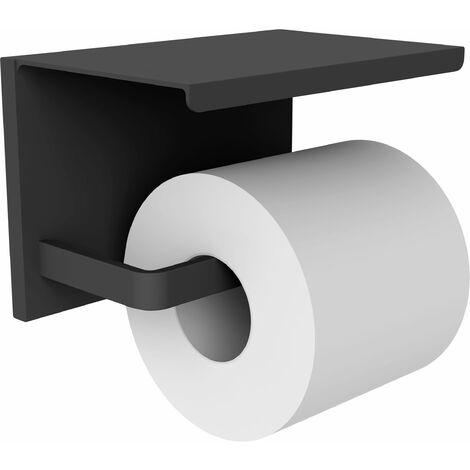 Distributeur papier WC gris mat avec étagère en alu laqué LOFT-GAME 16 x 11 x 11 cm