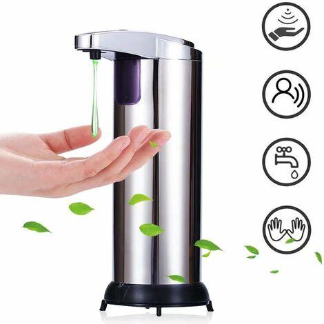 Distributeur Savon Automatique, Distributeur Savon Liquide, Distributeurs Automatiques de Savon Détecteur de Mouvement à Infrarouge Distributeur autosoap pour Salle de Bain ou Cuisine