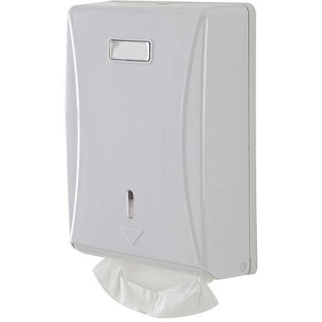 Distributore Salviette Carta Piegata Bianco in ABS a Muro