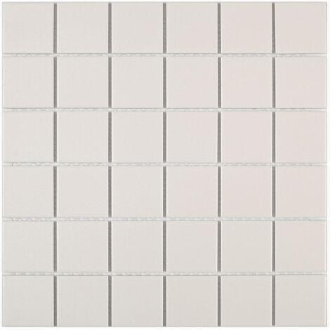 DISTRIMAT Carrelage mosaïque TECNIQ Blanc 30x30 cm