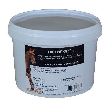 Distri'Ortie - Ortie pour Cheval - Contenance: 2.5 kg