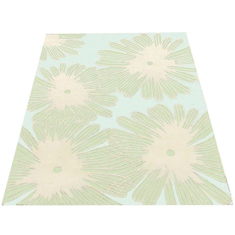 Ditsy daisy rug,high tuft,creams and greens