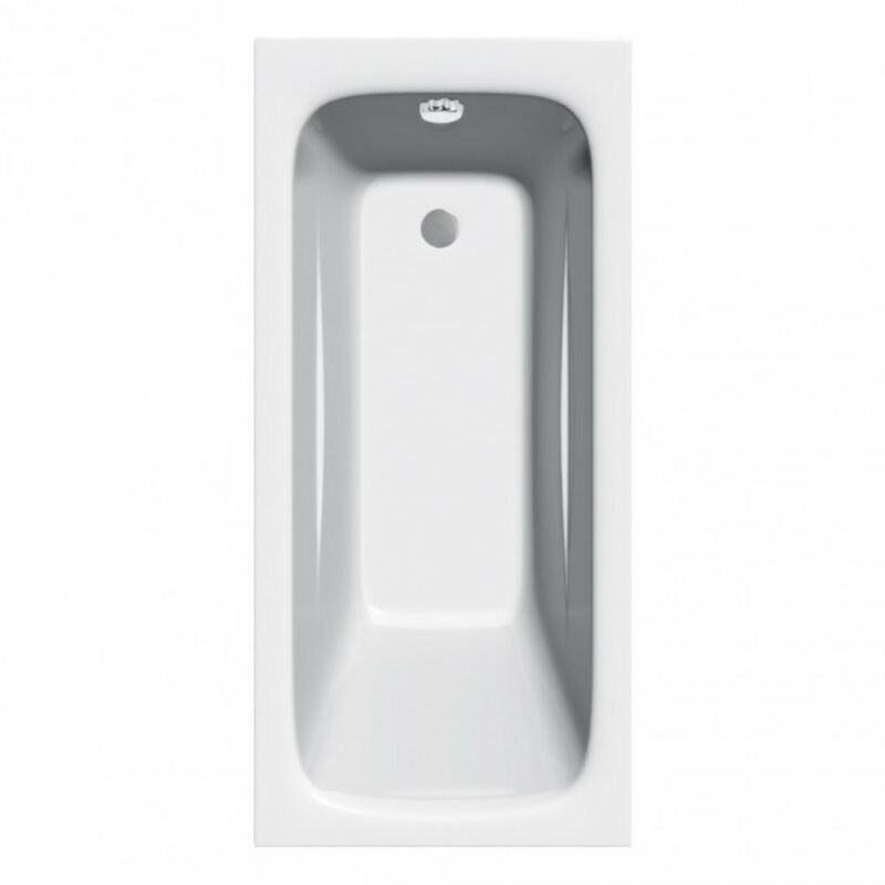 Image of Diva 1200mm x 700mm Single Ended Bath - size 1200 x 700mm - color White - JT PICKFORDS