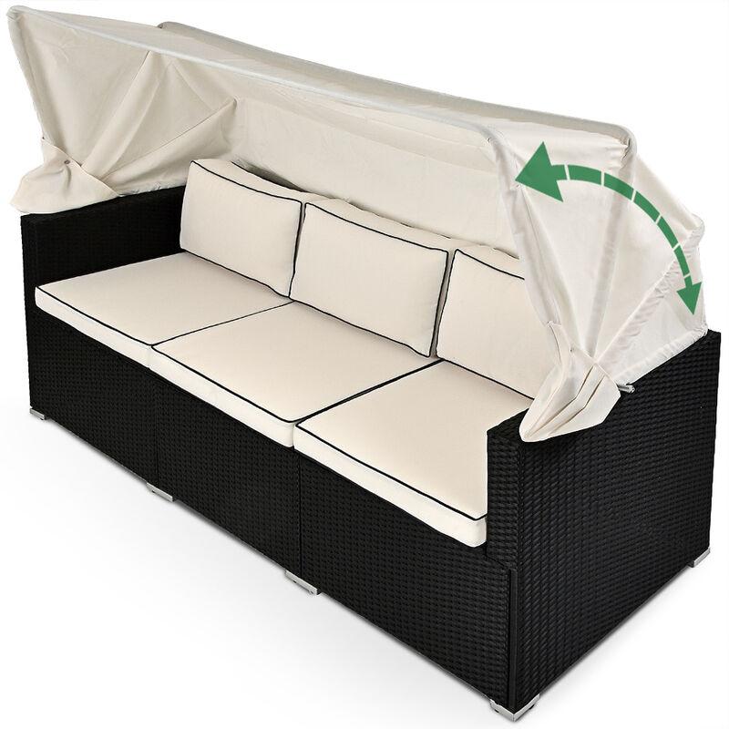 Divan Lounge canapé de jardin avec toit pare-soleil - Salon de jardin