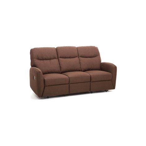 Divano 3 Tre Posti in Tessuto Relax Reclinabile Moderno Recliner Salotto  Sofa