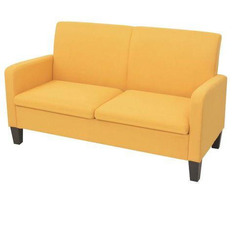 Divano a 2 Posti 135x65x76 cm divanetto Soggiorno Salotto divano cucina