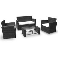 Poltrona da esterno sedia in alluminio tessuto bianca per tavolo giardino 50673