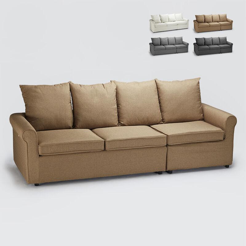 Divano letto con brandina matrimoniale 3 posti sfoderabile moderno Lapislazzuli | Colore: Beige