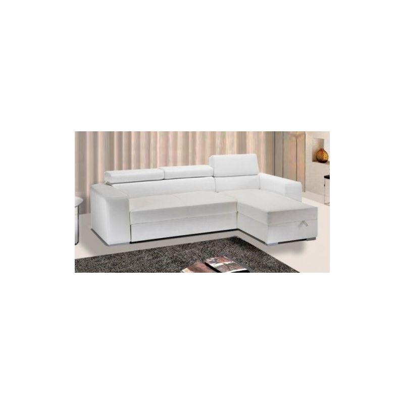 Divani Bianchi Ecopelle : Divano letto in ecopelle bianco con contenitore sofà con