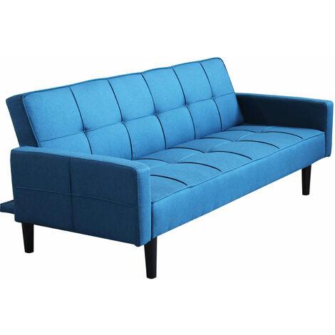 Divano letto trapuntato blu melange scuro stile moderno di for Divano trapuntato