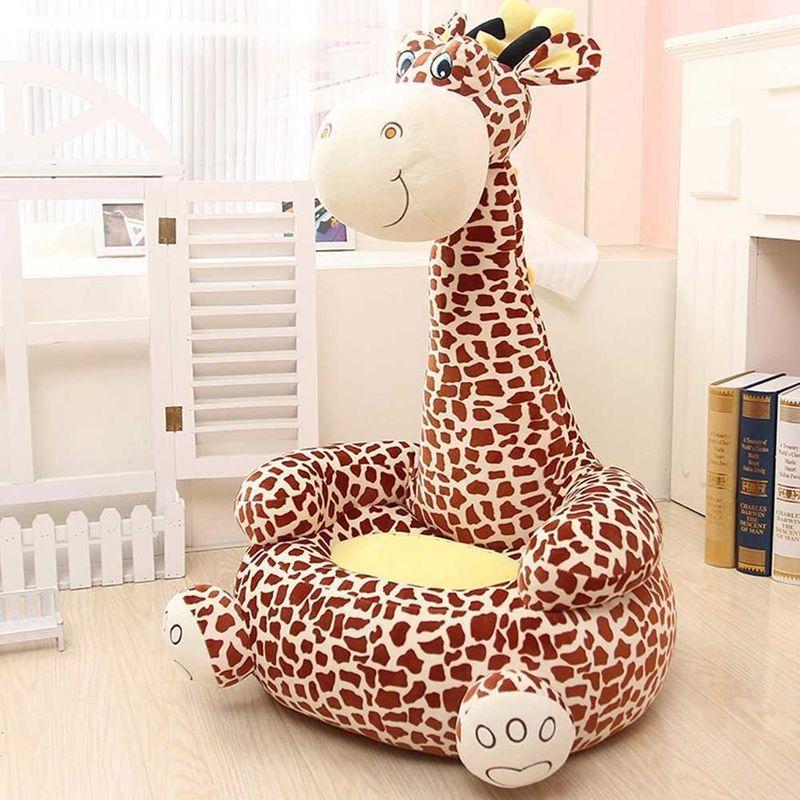 Poltroncine E Divanetti Per Bambini.Divano Poltroncina Divanetto Bambini Maxi Peluche Giraffa Con