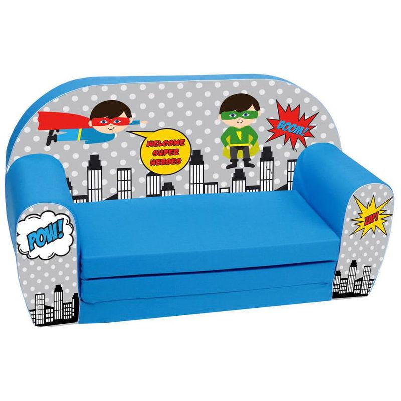 divano sofa per bambini 76x36x40cm tessuto sfoderabile con