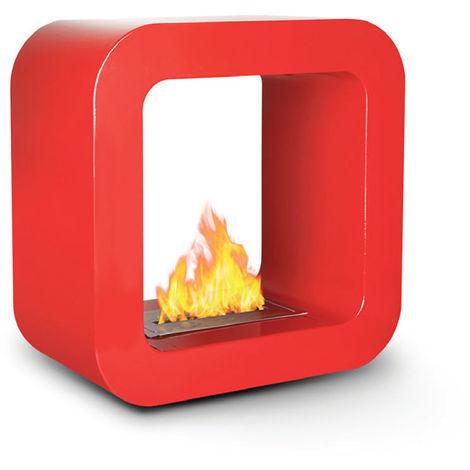 Divina-fire Cheminée au bioéthanol rouge design moderne BRUXELLES