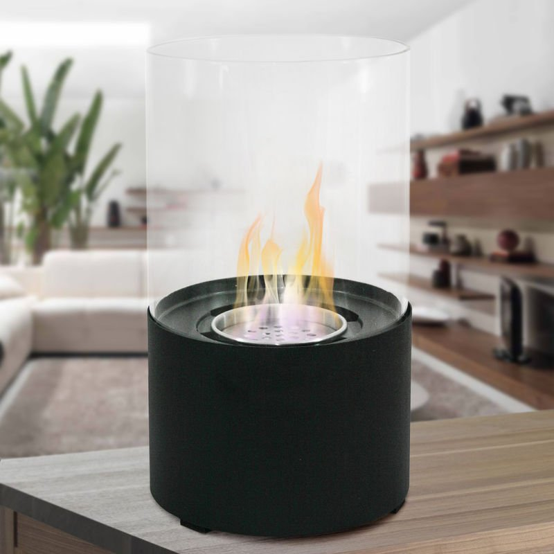 Divina Fire Cheminee De Table Au Bioethanol 2 Kw H Design Moderne