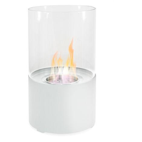 Divina-fire Cheminée de table au bioéthanol design moderne OXFORD BLANCHE