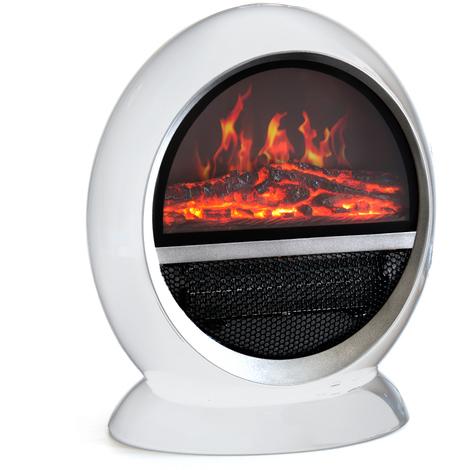 Divina-fire Cheminée électrique avec fausse flamme 2000 W Marte Blanche