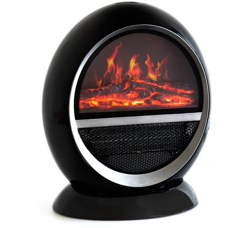 Divina-fire Cheminée électrique avec fausse flamme 2000 W Marte Noire