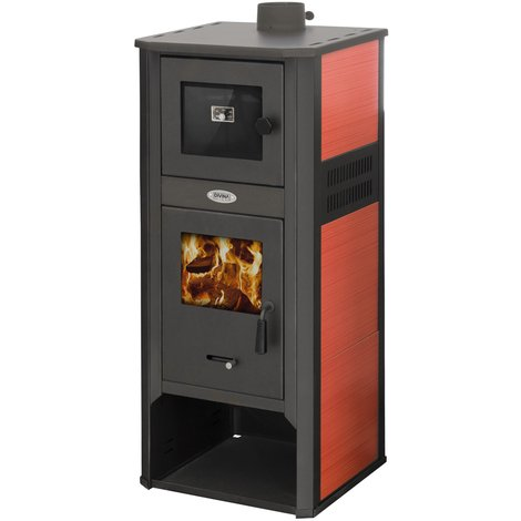 Häufig Divina-fire Holzofen 10-12Kw rot Stahl DF51702 - 8059591732878 OZ59