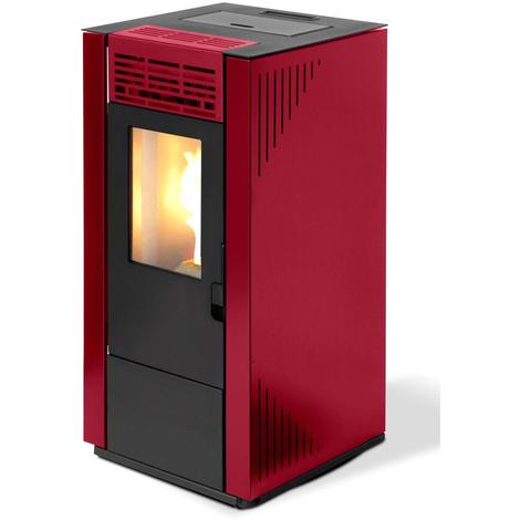 Divina-fire Poêle à granulés 7.4 kW 170 m³ couleur bordeaux 65 S-LINE DF53712
