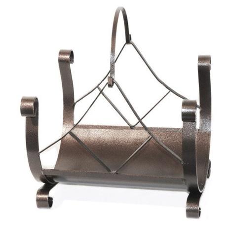 Divina-fire Porte-bûches à une poignée en fer forgé 40 x 33 x h 49 cm DF53560