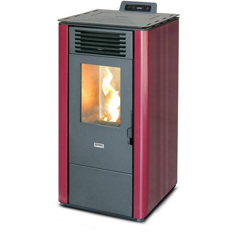 Divina-fire Stufa a pellet 7 kw LOLITA70 Bordeaux Divina Fire