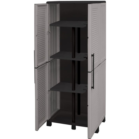 Divina-home armadio porta scope in resina grigio DH52920