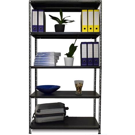 Kit Scaffale Metallo.Divina Home Kit Scaffale In Metallo 100x40x190 5 Ripiani Rinforzati Dh53878