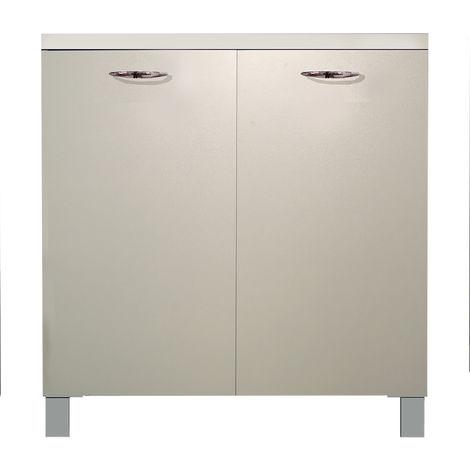 Divina-home mobile base cucina 80x50xh83cm bianco DH55413