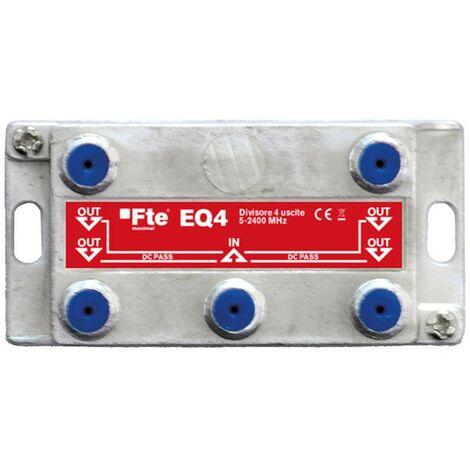 Divisor de 4 vías terrestre y satélite FTE EQ4