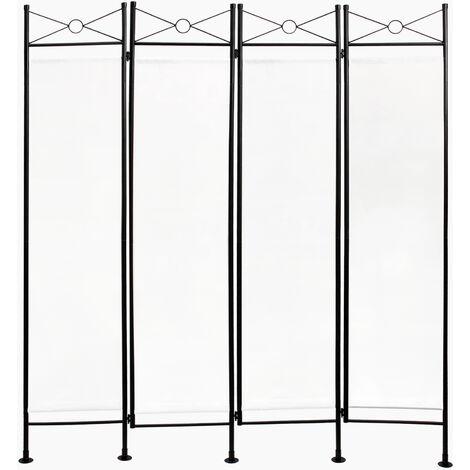 Divisor de Habitaciones, Biombo, 180 x 160 cm, Blanco, Panel: 100% Poliéster