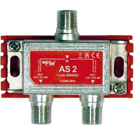 Divisor de TV FTE clase terrestres y canales vía satélite, 2 salidas de 4 dB
