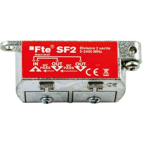 Divisor de TV FTE para digital terrestre y satélite 2 salidas 4db