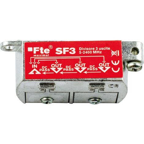 Divisor de TV FTE para digital terrestre y satélite 3 salidas 6db