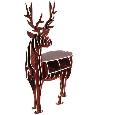 DIY 3D Puzzle Deer Elk Wood Pr House Adorno Decoración Regalo de Navidad