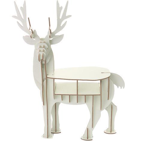 DIY 3D Puzzle Deer Elk Wood Pr House Adorno Decoración Regalo de Navidad Hasaki