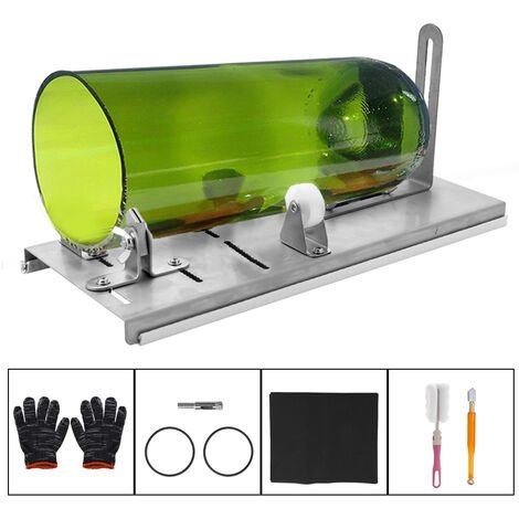 DIY botella de cristal de corte ajustable Tamanos metal glassbottle corte de maquina para hacer a mano botellas de vino de vidrio casero herramienta de corte, de 3 ruedas