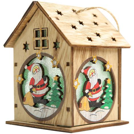 DIY cabana luminosa, iglu de Navidad, decoracion de cabana de madera