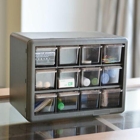 DIY Drawer Parts Storage Unit Organizer Cabinet Home Garage Tool DIY Box Case (C)