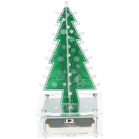 DIY facil colores hacen del arbol de navidad con LED de acrilico en el aprendizaje de la musica electronica Modulo Kit
