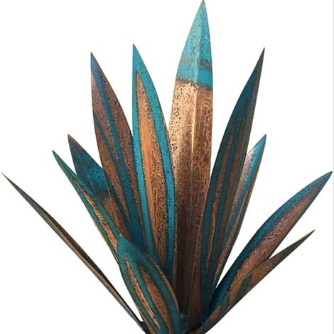 """main image of """"DIY Metal Agave Plant Decoration Tequila Rustic Art Sculpture for Outdoor Patio Garden Yard Art Ornaments"""""""