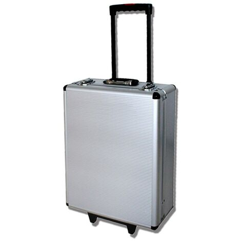 DIY Set, Tool Box, with Aluminum case and Telescopic handle, 251 Tools, Material: Carbon steel